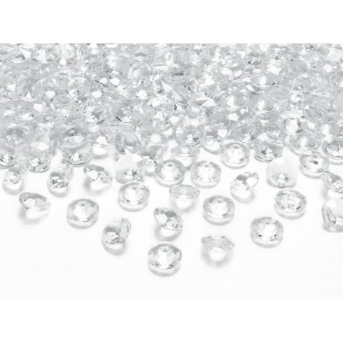 Gyémánt alakú dekorkő 12 mm - áttetsző
