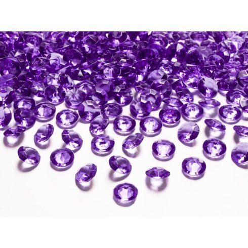 Gyémánt alakú dekorkő 12 mm - lila