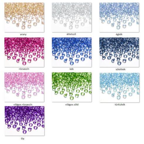 Gyémánt alakú dekorkő 12 mm - több színben