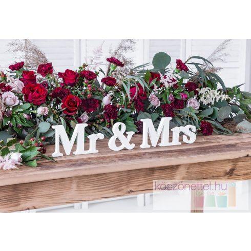 Mr & Mrs  háromrészes asztali felirat