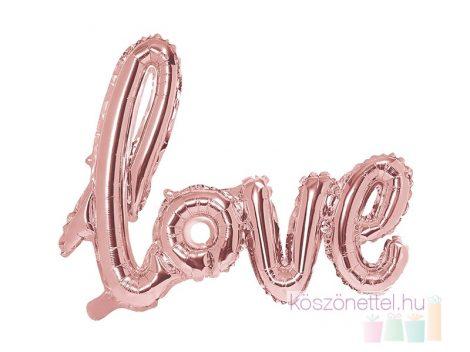 """Love"" rose gold fólialéggömb (73*59 cm)"