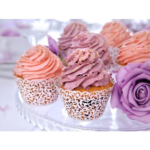 Fehér cupcake szalag