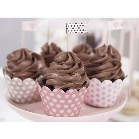 Sweets cupcake szalagok (6 db-os csomag)