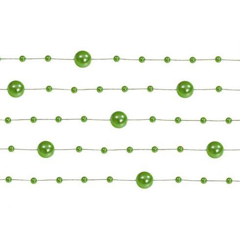 Gyöngy girland zöld (5 db-os csomag)