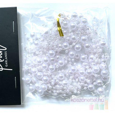 Gyöngy girland világos rózsaszín (5 db-os csomag)