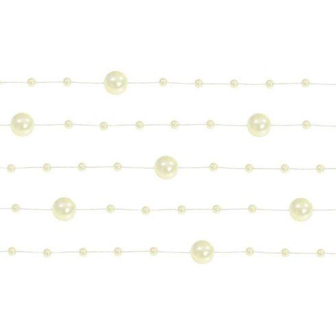 Gyöngy girland krém (5 db-os csomag)