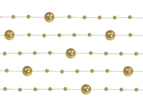 Gyöngy girland arany (5 db-os csomag)