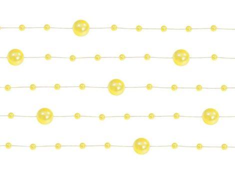 Gyöngy girland sárga (5 db-os csomag)