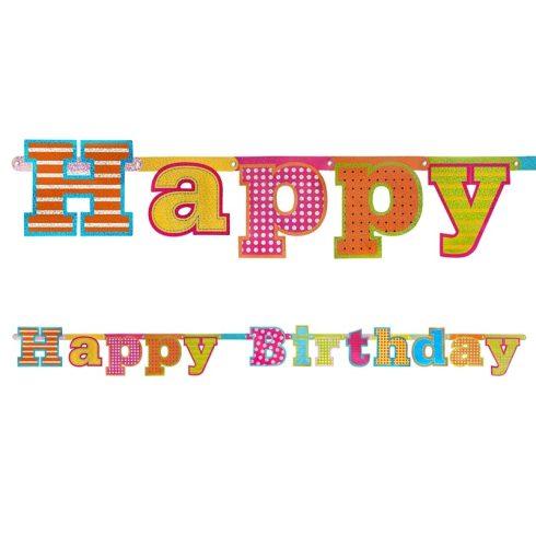 """""""Happy Birthday"""" hologramos szülinapi felirat"""
