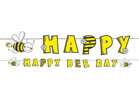 Happy B-day méhecskés banner