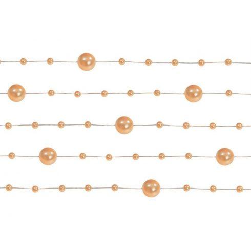 Gyöngy girland narancs (5 db-os csomag)