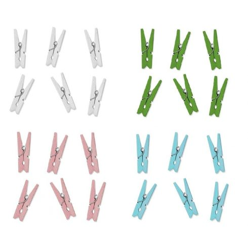 Mini csipesz több, választható színben (20 db-os csomag)