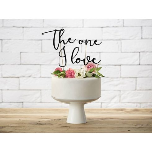 """The One I love"" karton tortadísz"