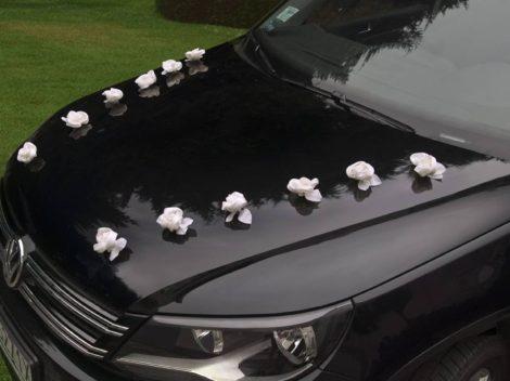 Öntapadós szatén rózsa - autódekoráció (10 db-os készlet)