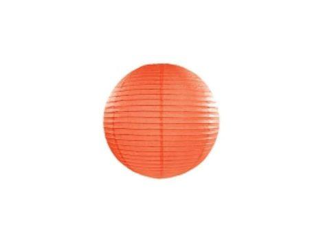Papírlampion 20 cm - narancs