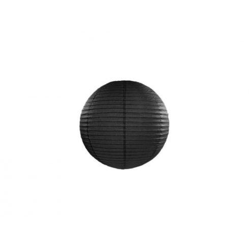 Papírlampion 20 cm - fekete