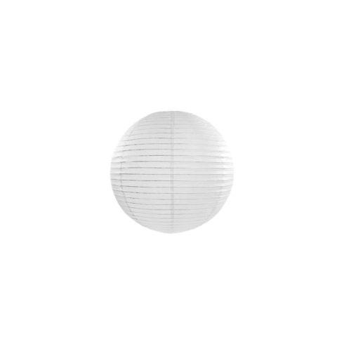 Papírlampion 20 cm - fehér