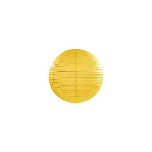 Papírlampion 20 cm - sárga