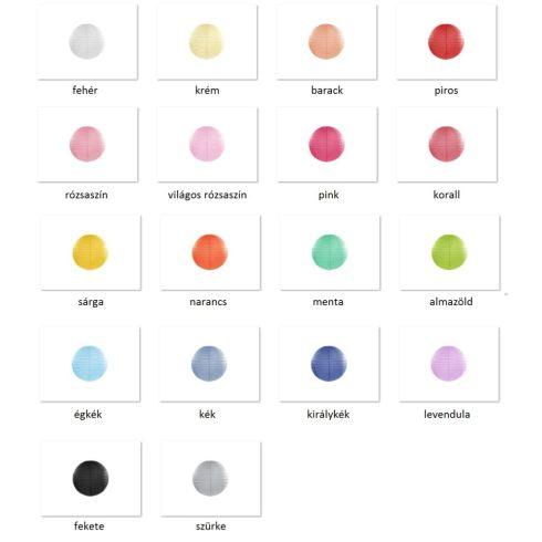 Papírlampion 20 cm több színben