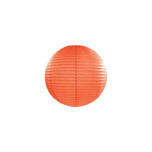 Papírlampion 25 cm - narancs