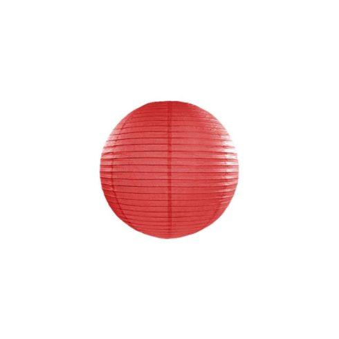 Papírlampion 25 cm - piros
