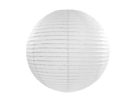 Papírlampion 25 cm - fehér