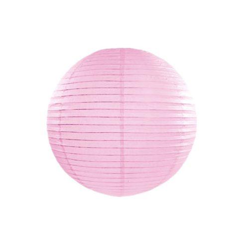 Papírlampion 25 cm - világos rózsaszín