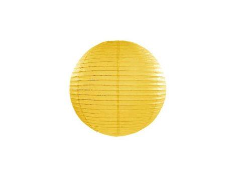 Papírlampion 25 cm - sárga