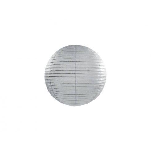 Papírlampion 25 cm - szürke