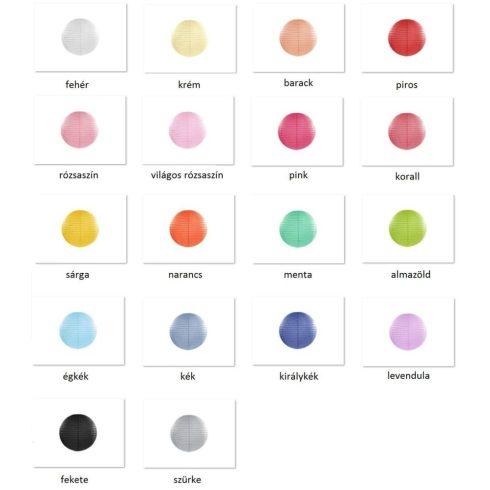 Papírlampion 25 cm több színben