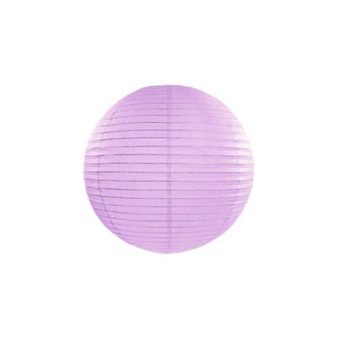 Papírlampion 35 cm -  levendula lila