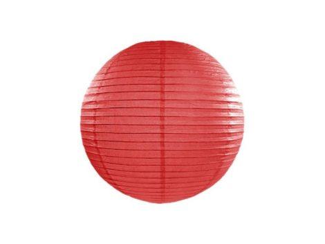 Papírlampion 35 cm - piros