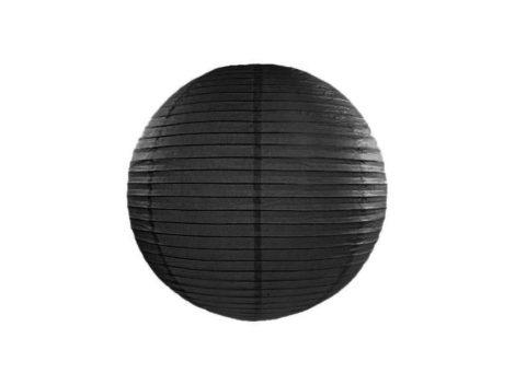 Papírlampion 35 cm -  fekete