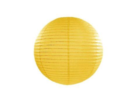 Papírlampion 35 cm -  sárga