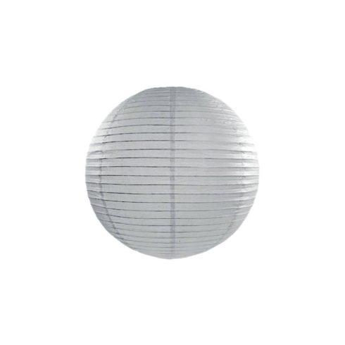 Papírlampion 35 cm - szürke