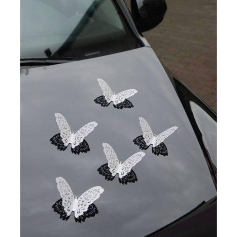 Gyöngyház mintás pillangó - dekoráció