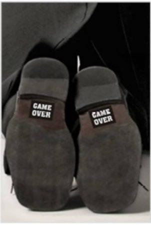 Game over - cipőtalp matrica