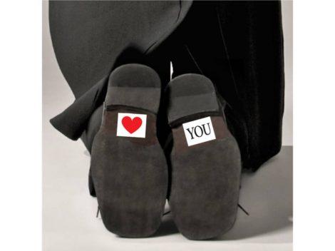Love you - cipőtalp matrica