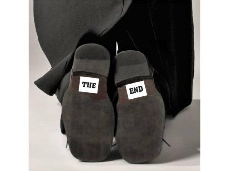 """""""The End"""" cipőtalp matrica"""