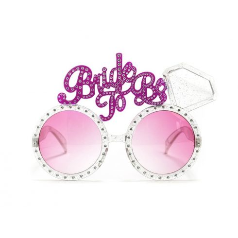 """""""Bride to be"""" rózsaszín lánybúcsú szemüveg"""