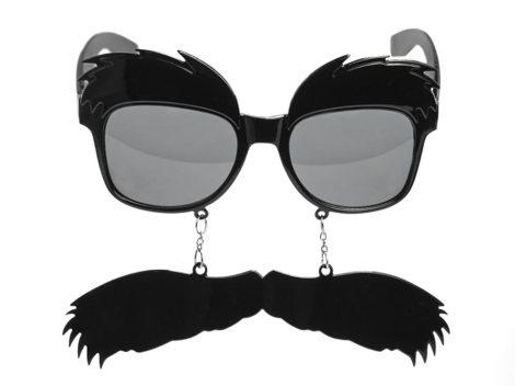 Szemüveg bajusszal és dús szemöldökkel - fotókellék