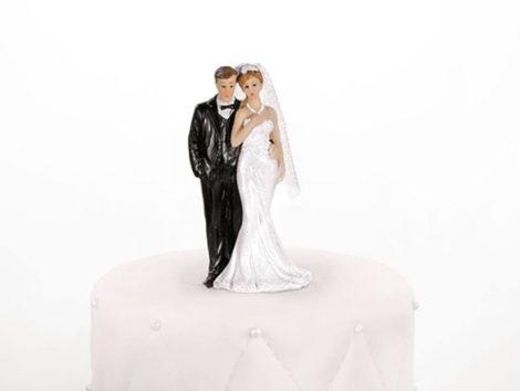 """""""Fogadom"""" esküvői tortadísz"""