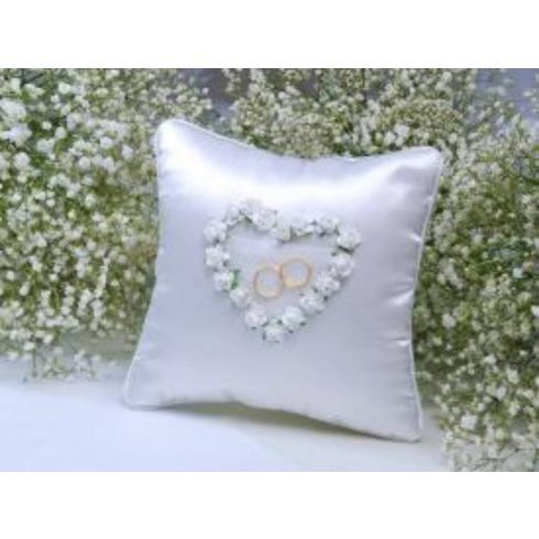 Fehér rózsa - gyűrűpárna