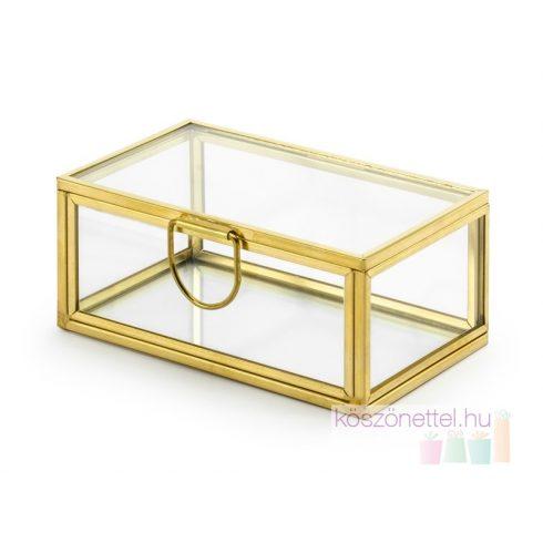 Gyűrűtartó üvegdoboz (gravírozható)