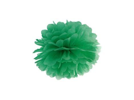 Pompom 25 cm - smaragd zöld