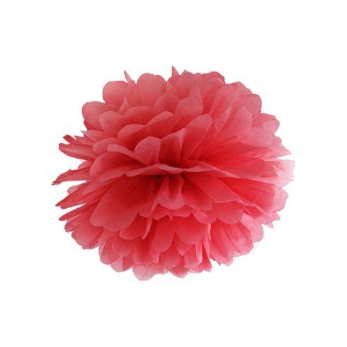 Pompom 25 cm piros