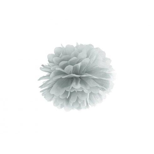 Pompom 25 cm ezüst