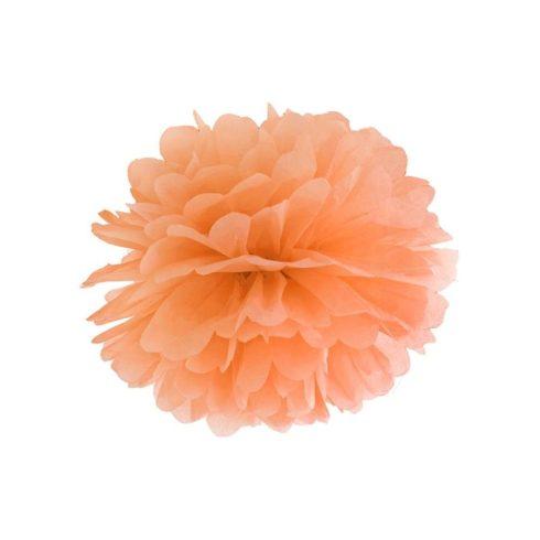 Pompom 35 cm narancs