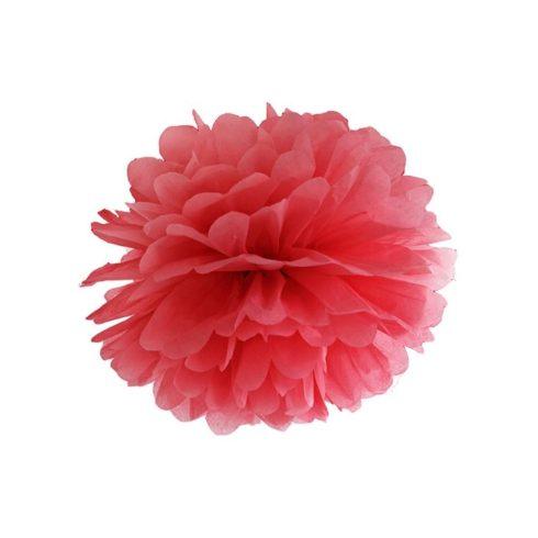 Pompom 35 cm piros