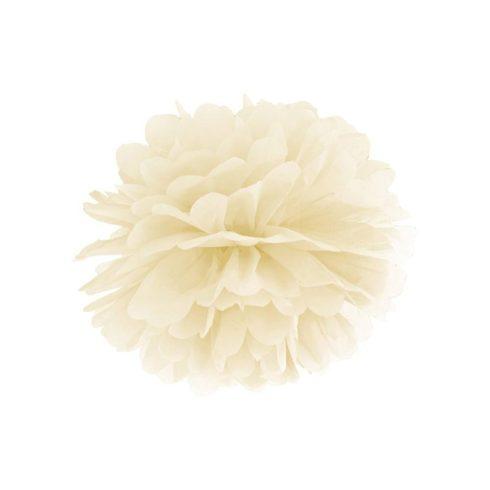 Pompom 35 cm krém